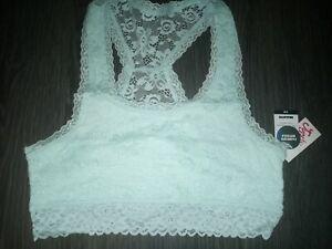 Girls justice lace racerback bralette size 36 new mint