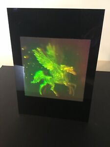 PEGASUS WITH STARS TRUE 3D Hologram Picture Photopolymer Type Film