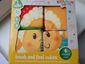 ELC Baby Soft Cubes Brand New 4 Soft Touch  and Feel Cubes