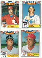 "1984 TOPPS COMMEMORATIVE ""1983 ALL-STAR GAME"" INSERT::  You Pick One (1) Card"