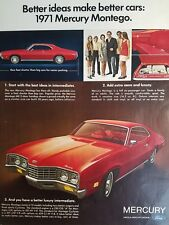 1971 red Mercury Montego better ideas make better cars ad
