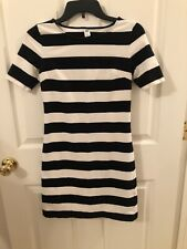 Old Navy Black and White Striped Short Sleeve Knit Dress Size XS @6