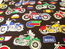 """18"""" X42"""" Motorcycles Bikes Road Hogs New Cotton Fabric Great For Masks #3590"""