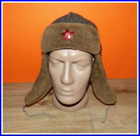 "Military warm Hat ""Ushanka"" Red Army winter fur hat & brass red star №29520"