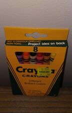 """Vintage 1989 Crayola Crayons 8 Pack """"Different Brilliant Colors"""""""