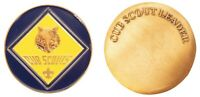 Boy Scout Cub Leader Challenge Coin Official Licensed BSA Engravable Blue Gold