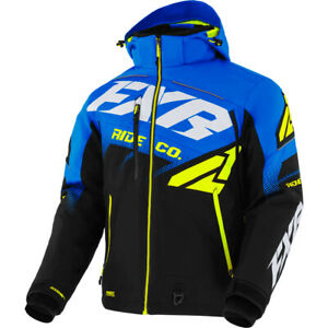FXR Black/Blue/Hi-Vis Boost FX Jacket Insulated Snowproof Moisture Wicking