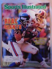 1986 Sport Illustrated Mark Bavaro New York Giants Vs Redskins