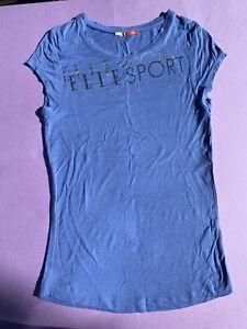 Y2K 00s Elle Sport Baby Blue Tee T Shirt Top