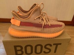 Adidas Yeezy Boost 350 v2 Clay, Color Orange, Non-reflective, Size 10 US, 2019