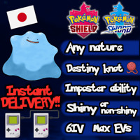 Pokemon Sword & Shield Japanese Shiny Ditto 6IV Max EVs / Instant Delivery!!!