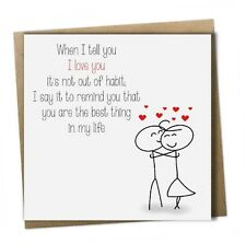 Husband Wife Partner Anniversary Valentines Birthday Christmas Love Card