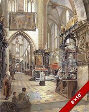 WAWEL CATHEDRAL INTERIOR KRAKOW POLAND PAINTING ART REAL CANVAS PRINT