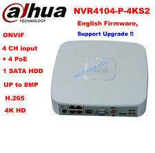 Dahua NVR4104-P-4KS2 4Channel Smart Mini ONVIF 4POE H.265 Network Video Recorder