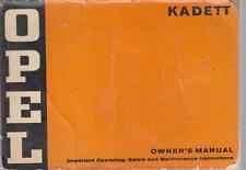 OPEL KADETT C SALOON COUPE ESTATE 1.0 1.2 PETROL ORIGINAL 1974 OWNERS HANDBOOK