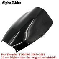 FOR YAMAHA TDM 900 2002-2014 WINDSHIELD WINDSCREEN 20CM Heightening SCREEN BLACK