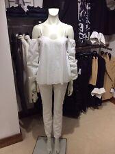 Hugo Boss Womens Top Coalina-1 50385639 White Cotton UK 10