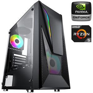 PC COMPUTER DESKTOP GAMING RYZEN 5 3600 8GB SSD 500GB GEFORCE GT 1030 2GB GDDR5