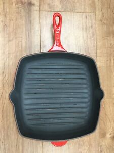 Le Creuest Square Size 26 Red Skillet / Frying Pan Great Condition. Photos ;-)