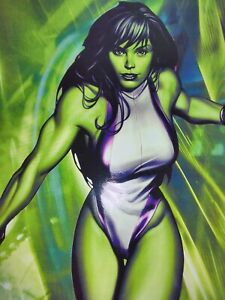 She-Hulk Poster 12x18 in. Print extremely rare mint condition Green Team