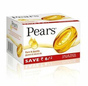 Pears Pure & Gentle Soap Bar, 3 x 125g SU