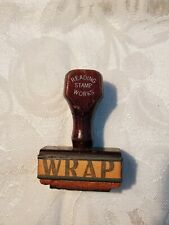 "VINTAGE READING STAMP WORKS Ink Stamper ""WRAP"""