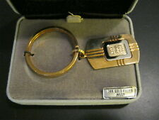 Rare Vintage COLIBRI 14K GOLD Filled Ingot Key Chain Ring- New-Last in Inventory