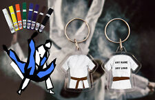 Personalised Judo - Karate - Ju Jitsu - Kickboxing double sided Brown Belt