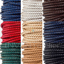 Top Quality Braided Real Leather Cord 5mm 6mm Jewellery Making