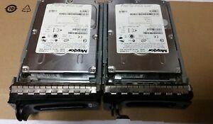 "- 2x Maxtor Atlas 300GB SAS 10K RPM 3.5"" Hard Drive  G8774  w/Tray @@@"