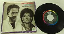 Lillo Thomas ~ All of You Let Me Be Yours ~ Capitol Records 45RPM Record Vinyl