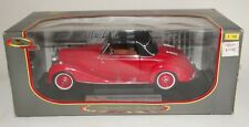 Signature Models 1950 Mercedes-Benz 170S Cabriolet 1:18 Scale Diecast Red Car