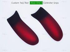 Xbox One S Velours Rouge Custom Controller Super Soft Grip Poignées Arrière Poignées/panneau