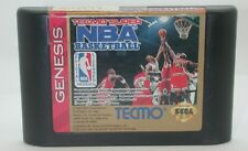 Sega Genesis Tecmo Super NBA Basketball Game Cartridge, Works R13290