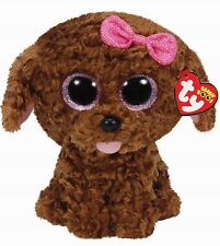 """TY BEANIE BOOS 9"""" BUDDY THE BROWN DOG MADDIE NEW TAGGED"""