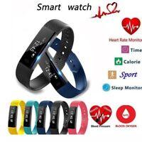 Smart Bracelet Wristband Watch Heart Rate Monitor Blood Pressure Fitness Tracker