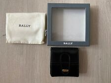 BALLY Vintage Square Leather Black Coin Wallet Purse