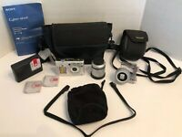 Sony Cyber-Shot 7.2 Megapixels DSC-W35 + Extra Batteries + TELE Conversion Lens