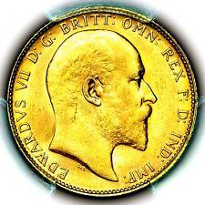 1908 P Edward VII Great Britain Australia Perth Mint Gold Sovereign PCGS MS64