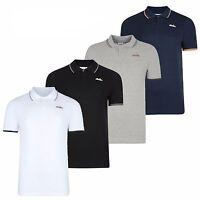 Mens Ellesse Logo Polo T-shirt Top Chat Vintage Short Sleeves S-XL