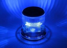 Solar Warning Light - Waterproof Solar Dock Lighting - BLUE LED - Continuous or