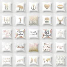 Polyester Letter Pillow Case Cover Sofa Car Waist Cushion Cover Home Decor Eager