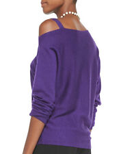 new RRP $360 EILEEN FISHER MERINO WOOL ASYMMETRIC JUMPER TOP VIOLET sz XL last