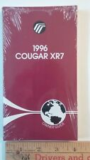 1996 COUGAR XR7- Factory Sealed NOS Original Owner Guide - Excellent Condition
