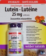 Webber Naturals Extra Strength Lutein 25mg w/ Zeaxanthin 5mg Eye 140 Softgels