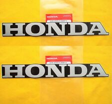 Honda Fairing Belly Pan Decal Stickers x 2 SILVER / BLACK **GENUINE HONDA**