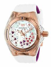 TECHNOMARINE CRUISE AQUARIUS MOTHER OF PEARL WHITE SILICONE WATCH HSN $795.00