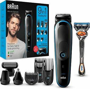 Braun MGK5280 9-in-1 All-in-one Beard Trimmer Hair Clipper Body Groomer / NEW