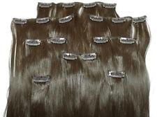Clip In Kunsthaar Set 8teilig glatt mittelbraun HaarverlängerungExtensions Hair