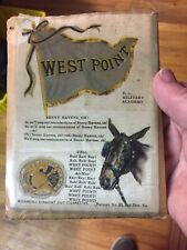 1910 Richmond Tobacco Silk - College Flag Seal Song & Yell Series - West Point